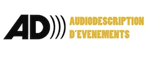 Illustration : logo de l'audiodescription